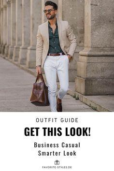 Erfahre welche Teile dazu passen! Business Casual Outfit für Männer. Moderner Look mit Jeanshose, Hemd, Sakko und Slippers. Ein smartes Outfit für die Arbeit, passend für den Frühling und Sommer. Outfits für Männer mit passenden Teilen bei Favorite Styles. #favoritestyles #mode #fashion #outfit #männer #herren #style #stil #männermode #herrenmode #mensoutfit #mensfashion #ideen #inspiration #streetstyle #casual #smart #business #arbeit #elegant #beige