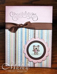 Cute baby card - Every Little Bit stamp set