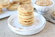 Snickerdoodle Sandwich Cookies | Snickerdoodle Cookie Recipe | Two Peas & Their Pod