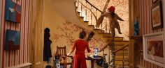 """the cherry blossom staircase in """"Paddington"""" is something that I want to try and recreate in this house. I loved seeing it throughout the movie."""