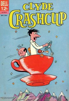 Clyde Crashcup (Dell, Clyde Crashcup and his assistant Leonardo appeared on the original Alvin and the Chipmunks Show in Vintage Cartoons, Vintage Comic Books, Vintage Comics, Classic Cartoon Characters, Comic Book Characters, Classic Comics, Classic Cartoons, Comics Und Cartoons, Cartoon Crazy