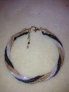 Herringbone Stitch with a Twirl Bracelet by tedarla on Etsy