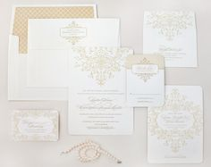 9) Invitation: Letterpressed invite and paper suite to carry out the central Southern theme. (The Lettered Olive) #wedding