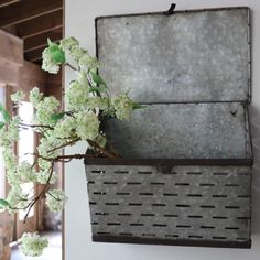 Inspired after the old Milk Delivery Box is this vented mailbox. Bringing that farmhouse charm to your front porch, patio, bathroom or in your home office. Re-purpose it a million different ways: fill