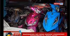 Bagsakan ng mga nakaw umanong motorsiklo sinalakay