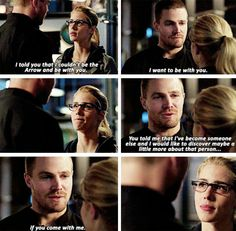 3x23 My Name is Oliver Queen - Olicity. Felicity internally screaming like the fans!