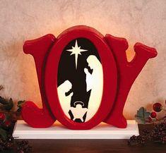 Indoor Glowing Joy Nativity Woodcrafting Pattern