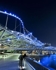 Helix Bridge, known as The DNA Bridge - Singapore
