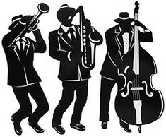 Image result for jazz people silhouette