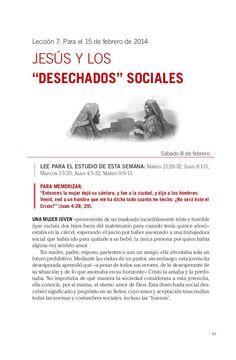 Leccion jesus y los desechados sociales by Escuela Sabatica via slideshare. Descargue aqui: http://gramadal.wordpress.com/