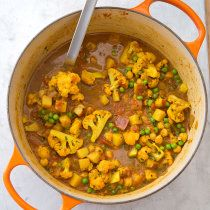 We wanted a quick meatless curry in which the vegetables stood up to the sauce. We took this dish from bland to bold.