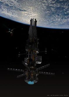 Obelisk 5 — Art by Jort van Welbergen on ArtStation. Spaceship Art, Spaceship Design, Sci Fi Anime, Galaxy Photos, Sci Fi City, Starship Concept, Sci Fi Spaceships, Space Battles, Robot Concept Art