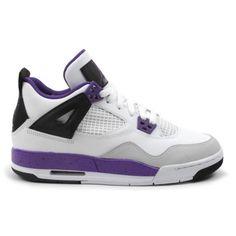 Air Jordan 4 GS Ultraviolet White Ultraviolet Black 487724-108 [Cutest Stuff 2886] - $58.00 : Cuteststuff.com is a great site for cutest stuff Cheap