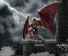 Stoic by Songficcer on DeviantArt Gargoyles Cartoon, Disney Gargoyles, Best Cartoons Ever, Cool Cartoons, Gargoyles Brooklyn, Cartoon Brain, The Secret World, Saturday Morning Cartoons, Duck Tales