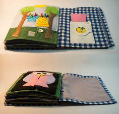 Baby quiet book, for toddlers and babies - recommended age 1-3 years The soft book is the perfect companion for your baby during the trip, playing games or relaxing. Because soft book is incredibly colorful and pleasing to the touch. Also, it has a different texture pages, which will contribute to the development of tactile and fine motor skills.   This fabric sensory and quiet activity book is made from other textures. Also, it can be customized for any child. Each page has different…