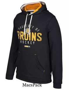 d6b71ef6e Boston Bruins CCM Hockey NHL Men s Vintage Logo Pullover Pocket Hoodie Ccm  Hockey