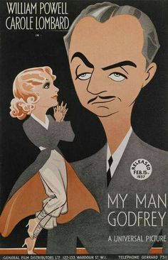 """Carole Lombard and William Powell in """"My Man Godfrey""""."""