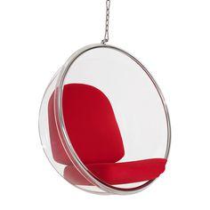 Hanging Orbit Chair in Red | dotandbo.com