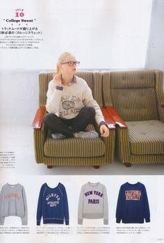 Fudge magazine 13.09 College sweat