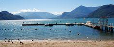 Dervio beach, lake como, Italy