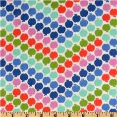 Greenhouse Flannel Apple Chevron Royal. Recreate with apple stamps?