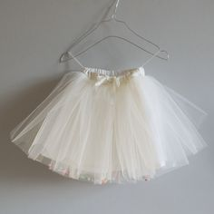 tulle skirt with confetti