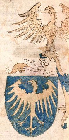 Herb księcia cieszyńskiego z Wernigeroder Wappenbuch (ok. 1475–1500)