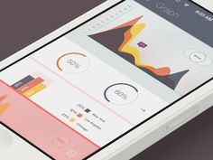 iOS 7 Analytics User Interface Design #UI