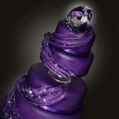 Beautiful purple cake