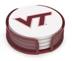5 Piece Virginia Tech Collegiate Coaster Gift Set