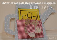 Kedves ajándék Nagymamáknak Sunday School, Diy, Cards, Bricolage, Do It Yourself, Maps, Playing Cards, Homemade