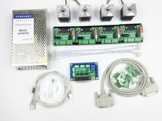 88.96$  Buy now - http://aliyte.worldwells.pw/go.php?t=32672366323 - CNC Router mach3 4 Axis Kit, 4pcs TB6560 driver + 5 axis stepper motor controller + 4pcs nema17 1.8A motor + 24V power supply