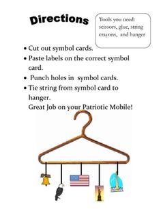 PATRIOTIC SYMBOLS: UNITED STATES SYMBOLS ART MOBILE  $