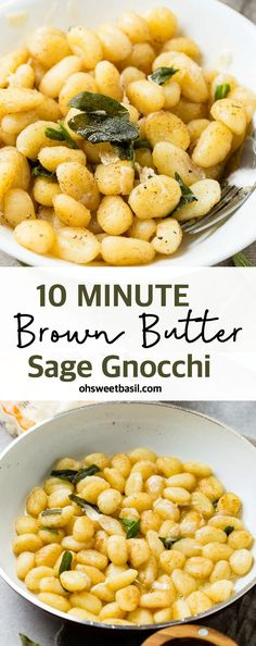 This 10 Minute Brown Butter Sage Gnocchi is life changing! It's crisped in a pan with simple brown butter, a touch of fresh sage and of course a sprinkle of nutty parmesan cheese! Sage Recipes, Pasta Recipes, Dinner Recipes, Endive Recipes, Radish Recipes, Potato Gnocchi Recipe, Sweet Potato Gnocchi, Chili Dip, Fresh Sage Recipe