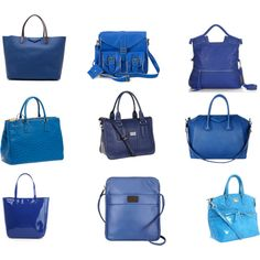 Blue Bags, created by akbecca on Polyvore