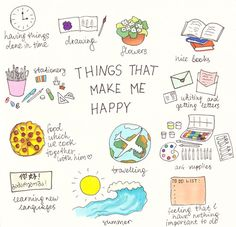 Things that make me happy💚💛💜 on We Heart It Bullet Journal Notebook, Bullet Journal Ideas Pages, Bullet Journal Inspiration, Vie Motivation, Things To Do When Bored, Bullet Journal Aesthetic, Self Care Activities, Book Stationery, Self Improvement Tips