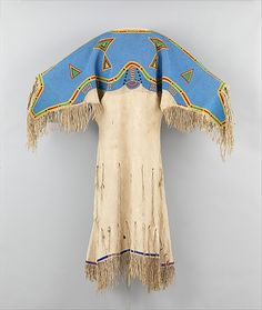 Beaded native-tanned leather Sioux (Teton) dress, American, ca. 1880.