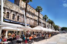 One of the top tourist destinations in Croatia, Split has a lot to offer from ancient Roman palaces to ferries from which you can start your island explorations in earnest. One of the focal points of tourist activities in Split is the massive boardwalk or Riva. During the day it's a great place to people watch and grab a bite but at night it comes alive with party-goers and friends out for a quick drink.