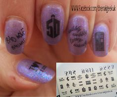 50th anniversary Dr Who nails