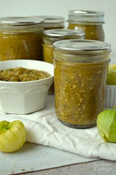 Roasted Green Tomato or Tomatillo Salsa (canned Chili Verde!)