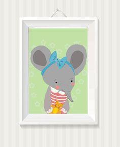 kinderbild elefant von *little miss arty*  - illustrationen auf DaWanda.com