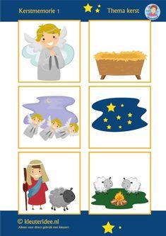 Kerst memorie voor kleuters, kleuteridee / Preschool christmas memory, nativity 2, free printable