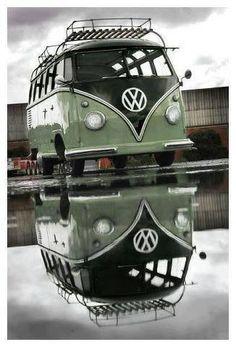 Volkswagen T1 bus. Great shot!