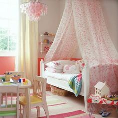 Inspiraiton for Little Girls Rooms and Nurseries | The New Home Ec. Beautiful canopy