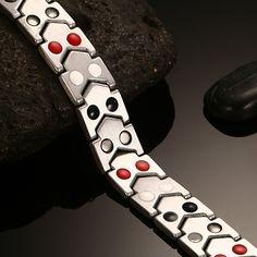 Healthy Titanium Magnetotherapy Bracelet Men Jewelry New Fashion Bio Energy Magnet Bracelets & Bangles Trendy Bracelets, Bracelets For Men, Bracelet Men, Link Bracelets, All About Fashion, New Fashion, Health Bracelet, Dresser, Fashion Accessories