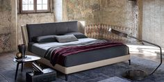 Poltrona Frau   Bretagn bed.   For more inspirations visit: www.bedroomideas.eu   #bedroomdecoratingideas #bedroomdecoration #bedroomfurnituredesign