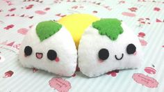My new creation: cute onigari plushies