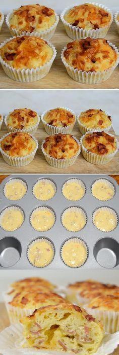 68 Ideas for breakfast quiche mini bacon Muffin Recipes, Snack Recipes, Cooking Recipes, Breakfast Muffins, Breakfast Recipes, Bacon Breakfast, Tapas, Pan Dulce, Love Food