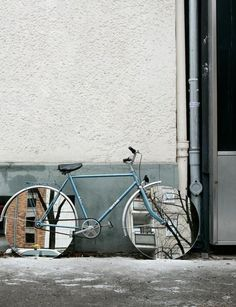 awesome bike.  // Reflection by Studio Olafur Eliasson