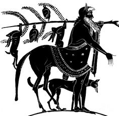 Chiron, the oldest and wisest of the centaurs. He was an immortal, the son of the Titan Cronos. The centaurs were known for their wild, lusty and drunken behaviour, but Chiron was kind and intelligent, knowledgable and skillful in medicine and revered as a tutor and teacher, his pupils including all the Greek culture heroes.